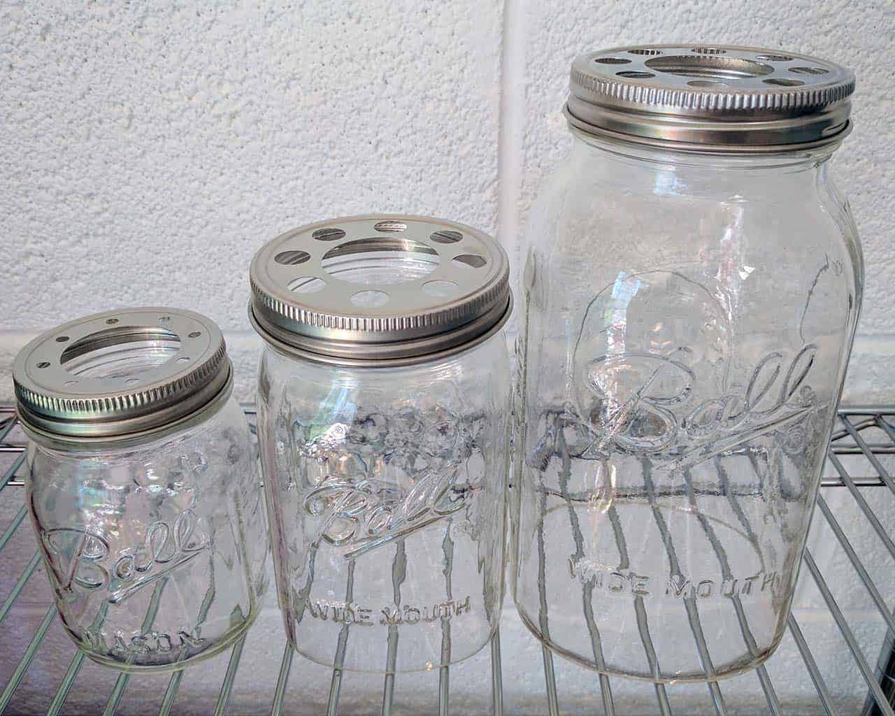 Hand Cut Open Bottom Mason Jar For Lighting Shade Or Crafts