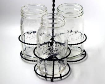 three-quart-32oz-mason-jar-caddy-round-handle-black-metal-ball-kerr-regular-wide-mouth
