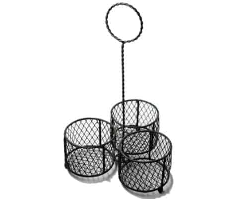 gray-three-wide-mouth-pint-mason-jar-caddy-chicken-wire-loop-handle