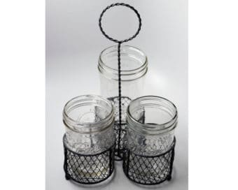 gray-three-wide-mouth-pint-mason-jar-caddy-chicken-wire-loop-handle-ball-kerr-jars
