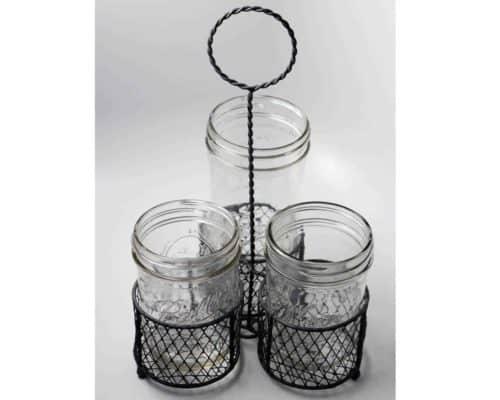 gray-three-wide-mouth-pint-mason-jar-caddy-chicken-wire-loop-handle-ball-kerr-jars