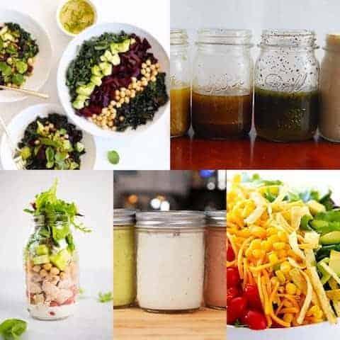 Mason Jar Salad & Dressing