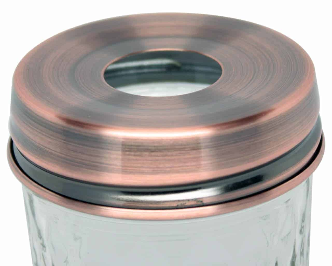 28f60978fe7 ... Dispenser Lid Adapter for Regular Mouth Mason Jars. 🔍. copper-stainless -steel-soap-pump-lid-adapter-regular-