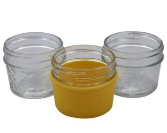 lemon-yellow-silicone-sleeve-koozie-4oz-regular-mouth-mason-jar-ball-jars-white