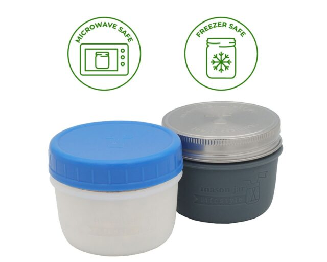 Silicone Koozie Sleeves for Wide Mouth 8oz Half Pint Mason Jars