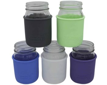 Mason Jar Lifestyle Silicone sleeves jackets koozies for regular mouth pint 16oz Ball and Kerr Mason jars