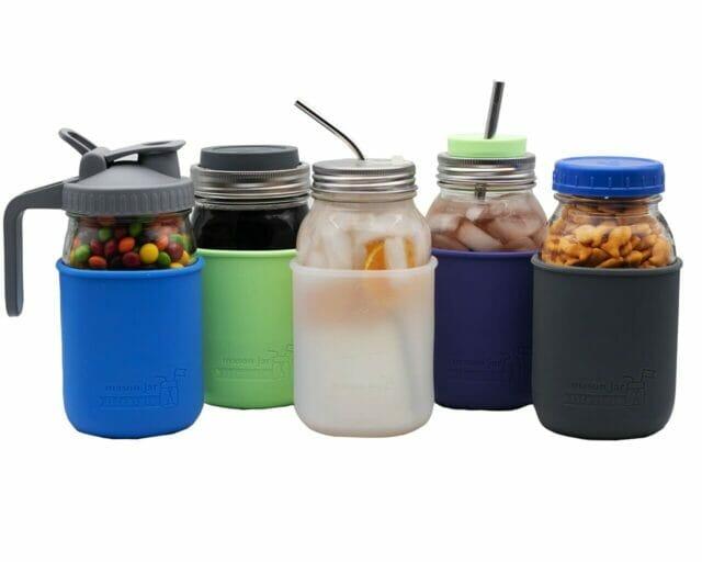 mason-jar-lifestyle-silicone-sleeve-jacket-quart-32oz-mason-jars-5-colors-lids-straws