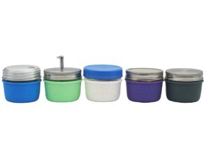 mason-jar-lifestyle-silicone-sleeve-jacket-wide-mouth-half-pint-8oz-5-colors-lids