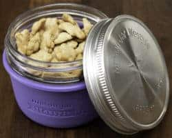 mason-jar-lifestyle-ultra-violet-silicone-sleeve-jacket-koozie-wide-mouth-half-pint-8oz-mason-jar-stainless-steel-leak-proof-lid-teddy-grahams