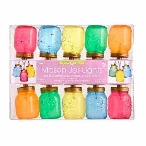 Mason Jar String Lights Multicolored For Indoor Outdoor Use