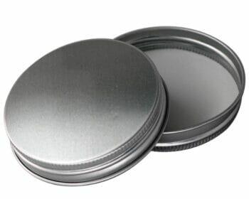 Aluminum storage lid with foam insert for regular mouth Mason jars