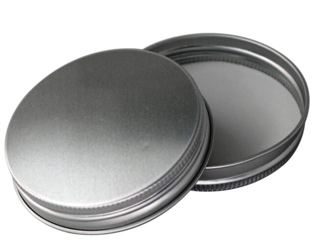 Aluminum storage lid with foam insert for regular mouth Mason jars