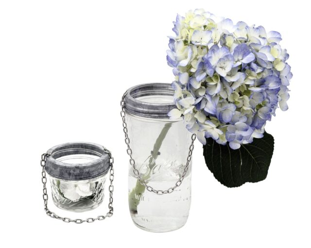 Galvanized Metal Band with Chain for Regular and Wide Mouth Mason Jars