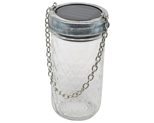 Galvanized Metal Band with Chain for Wide Mouth Mason Jars