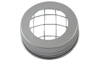 Silver frog flower organizer lid for regular mouth Mason jars