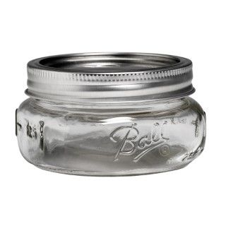 Ball Collection Elite Wide Mouth Half Pint 8oz Mason Jar