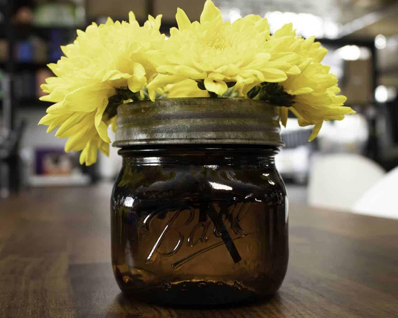 Galvanized Metal Flower Organizer Frog Lid For Mason Jars