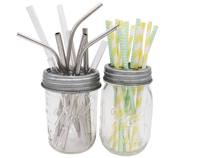 Galvanized metal frog flower organizer lids for regular and wide mouth Mason jars