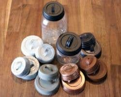 Seven kinds of decorative handle / canister lids for regular and wide mouth Mason jars