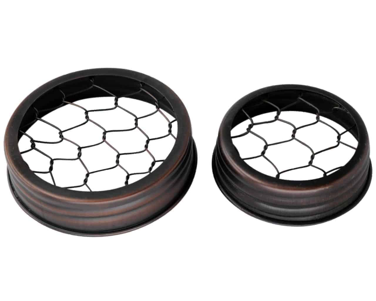 oil rubbed bronze flower organizer frog lid for mason jars