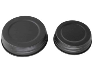 Matte black decorative lids for regular and wide mouth Mason jars