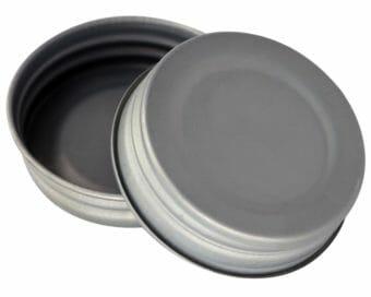 Antique pewter vintage reproduction lids for regular mouth Mason jars