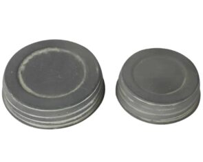 Antique zinc / barn roof gray decorative lids for regular and wide mouth Mason jars