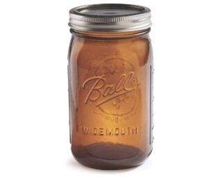Ball Collection Elite Amber Wide Mouth Quart 32oz Jar