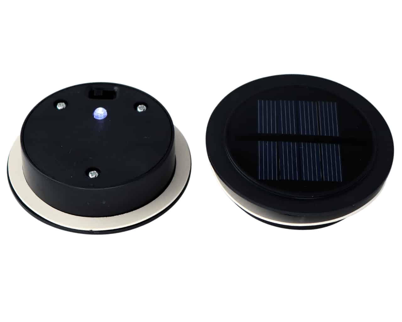 Solar Led Light Lids With Bright Single Bulb