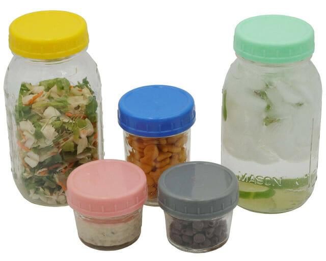 10-colors-polka-dot-straw-hole-tumbler-lids-regular-mouth-mason-jars