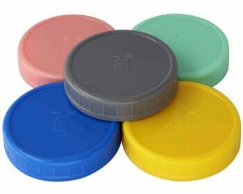 mason-jar-lifestyle-5-colors-plastic-storage-lids-platinum-silicone-liners-wide-mouth