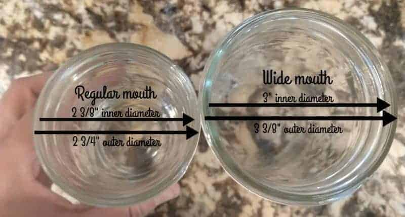 Wide Mouth vs. Regular Mouth Mason Jars – The Same, But Different