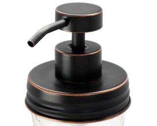 mason-jar-lifestyle-soap-pump-dispenser-lid-kit-oil-rubbed-bronze-#2