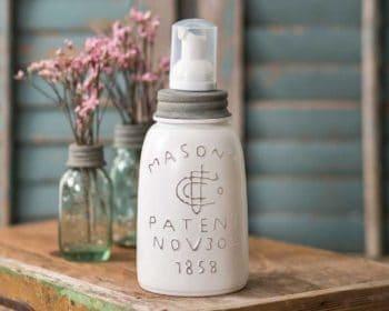 Midget pint Mason jar foaming soap dispenser