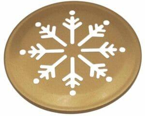 Mason Jar Lifestyle Copper snowflake snow cutout lid for regular mouth Mason jars