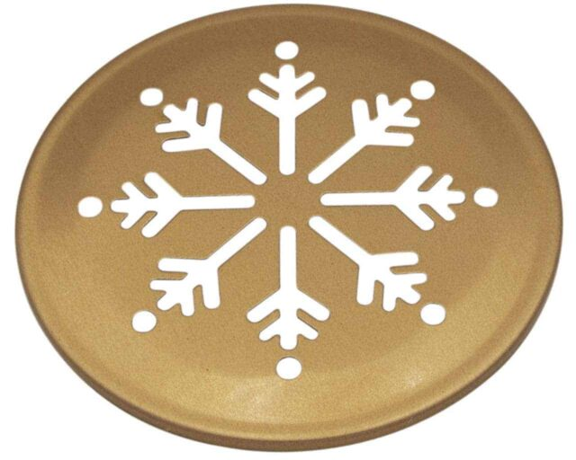 Mason Jar Lifestyle Copper snowflake snow cutout lid for regular mouth Mason jars