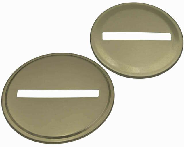 Mason Jar Lifestyle Gold coin slot bank lid for regular and wide mouth Mason jars