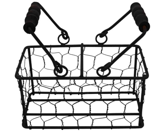two-2-jar-caddy-regular-wide-mouth-pint-mason-jars-black-wood-handles-up-chicken-wire
