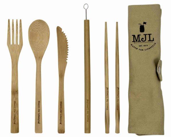 mason-jar-lifestyle-bamboo-utensil-set-roll-up-cotton-carrying-bag-fork-spoon-knife-chopsticks-straw-brush-rolled