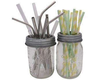 mason-jar-lifestyle-galvanized-metal-grid-square-frog-flower-lid-regular-wide-mouth-mason-jars-ball-pint-straws