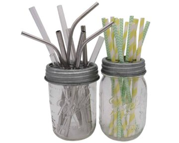 mason-jar-lifestyle-galvanized-metal-grid-square-frog-flower-lid-regular-wide-mouth-mason-jars-ball-pint-straws