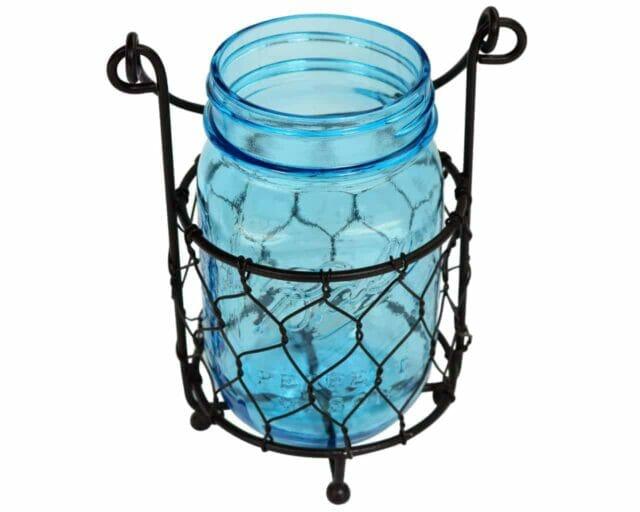 one-jar-caddy-chicken-wire-blue-jar