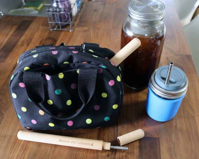wood-straw-carrying-case-beech-food-safe-oil-bag-wide-mouth-pint-cold-brew-coffee-safer-stainless-steel-straw-mason-jar-lifestyle