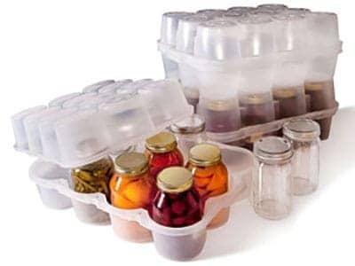 jarbox mason jar storage plastic box stackable quart food