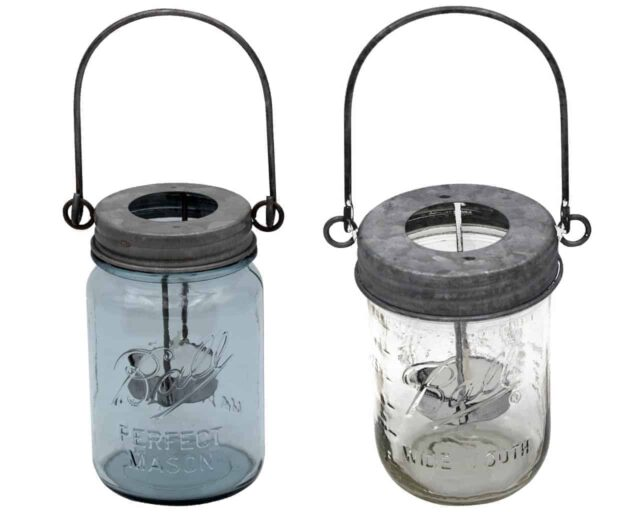 mason-jar-lifestyle-galvanized-metal-tea-light-candle-holder-round-circle-handle-down-hanging-regular-wide-mouth-blue-ball-pint-mason-jar
