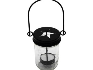 mason-jar-lifestyle-matte-black-primitive-tea-light-candle-holder-star-handle-up-hanging-regular-mouth-ball-half-pint-8oz-mason-jar