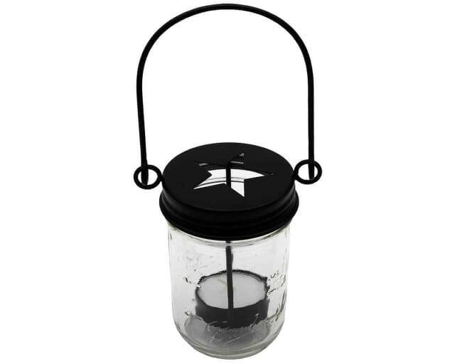 mason-jar-lifestyle-matte-black-primitive-tea-light-candle-holder-star-handle-up-hanging-regular-mouth-ball-half-pint-8oz-mason-jar