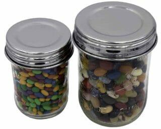mason-jar-lifestyle-chrome-mirror-shiny-polished-stainless-steel-vintage-reproduction-storage-lids-regular-wide-mouth-ball-mason-jar-jelly-beans