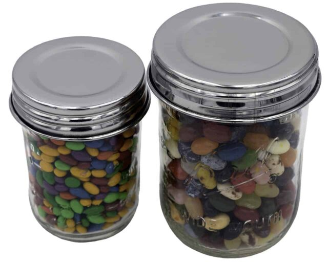 mason-jar-lifestyle-chrome-mirror-shiny-polished-stainless-steel-vintage-reproduction-storage-lids-regular-wide-mouth-ball-mason-jar-jelly-beans