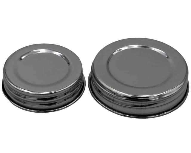 mason-jar-lifestyle-chrome-mirror-shiny-polished-stainless-steel-vintage-reproduction-storage-lids-regular-wide-mouth-mason-jars